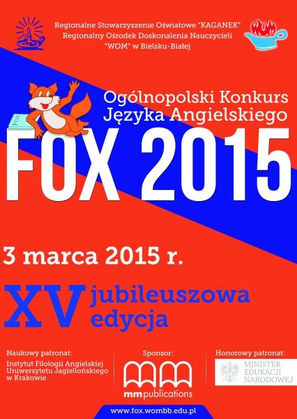 Fox 2015 Konkurs Z Języka Angielskiego Publiczna Szkoła